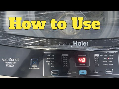 How to Use Haier HWM 85-826 top loaded Fully automatic washing Machine | How to operate panel |