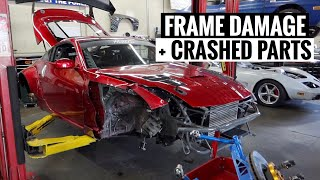 Here's ALL the Damage on my Crashed 350Z! by TJ Hunt