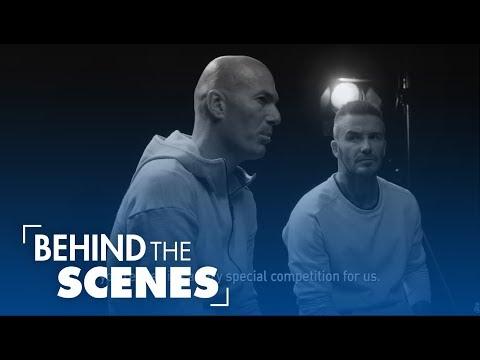 David Beckham and Zidane talk before the Champions League Final