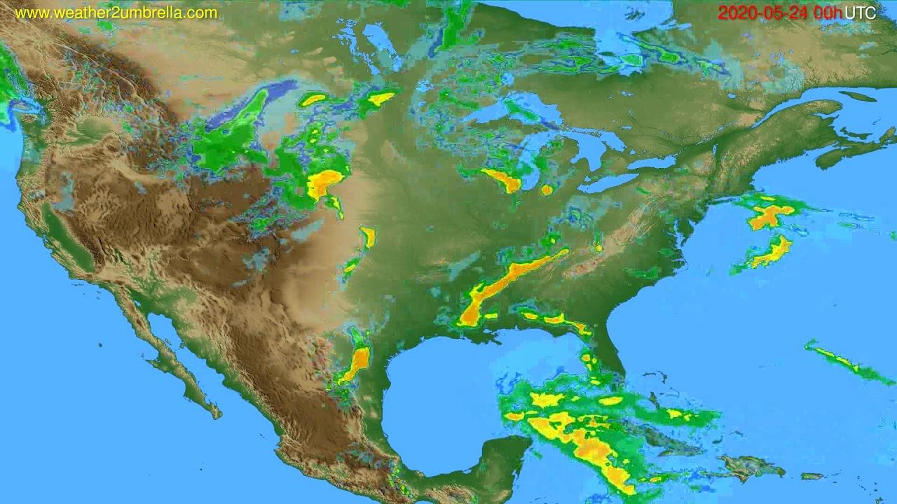 Radar forecast USA & Canada // modelrun: 12h UTC 2020-05-23