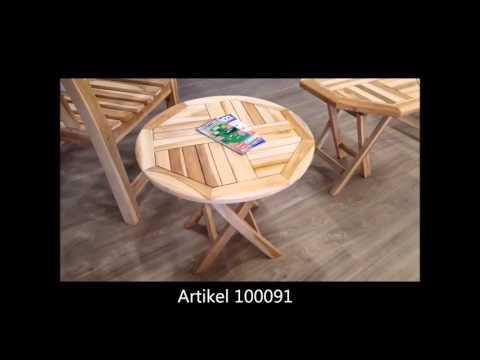 Beistelltisch Teak Holz von MACO massiv Holztisch / Gartentisch natur