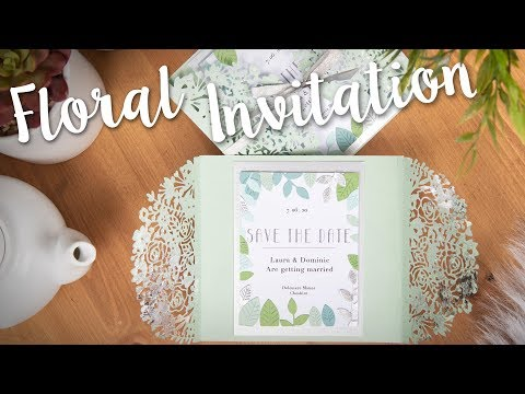 DIY Wedding Invitation: Floral Edges