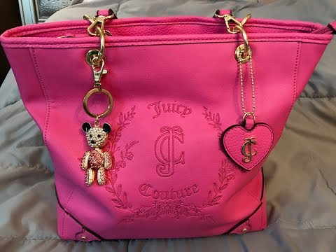 What's in my Juicy Couture Flamingo Pink Bag w/ Poppy & Lucy