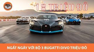 Ngây ngất với bộ 3 siêu phẩm triệu đô Bugatti Divo
