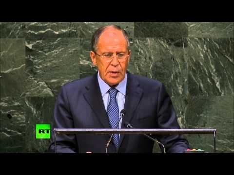 Выступление министра иностранных дел России Сергея Лаврова в рамках 69-й  Генассамблеи ООН (видео)