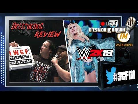 [3CFM Live] Preview de WWE 2K19 (Interview Charlotte Flair) + Review NJPW Destruction