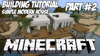Minecraft Tutorial HD: Simple Modern House 1 - Part 2