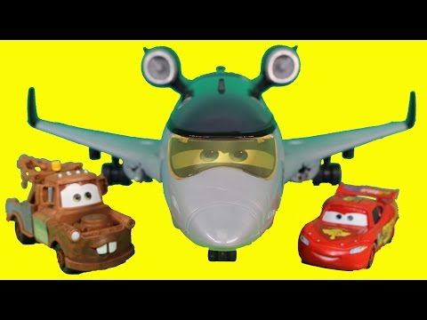 Disney Pixar Cars Siddeley The Spy Jet Mater Finn McMissile Lightning McQueen Save Holly Shiftwell