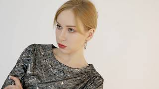 Korean knit shirring long dress ( EM-016 ) youtube video