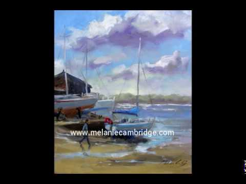 Painting Dell Quay using photographs
