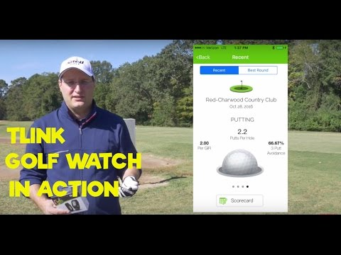 TLink- The Lightest GPS Golf Watch in the World in Action