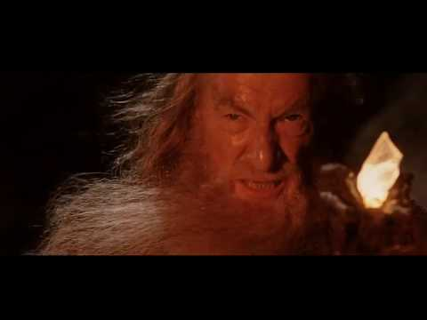 LOTR The Two Towers - Gandalf fights the Balrog of Morgoth