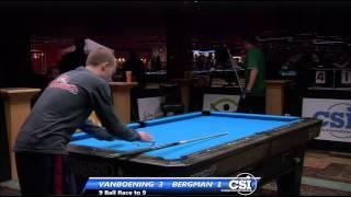 2014 CSI USBTC 9 Ball: Justin Bergman Vs Shane Van Boening