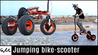 Video Make it Extreme's jumping bike-scooter MP3, 3GP, MP4, WEBM, AVI, FLV Mei 2017