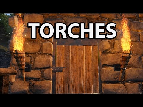 Torches in Ark Survival Evolved Standing: Torch, Hand Torch, Wall Torch