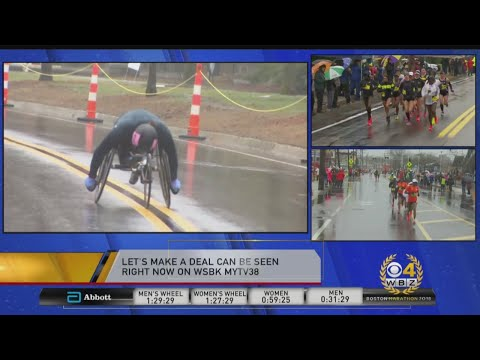 Tatyana McFadden Battles The Conditions At Boston Marathon
