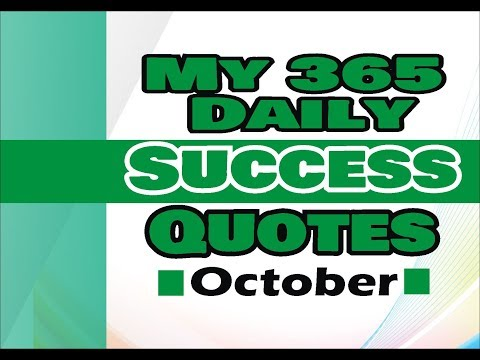 My 365 Daily Success Quotes October 06