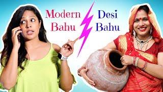 Video Desi Bahu vs Modern Bahu .. | #Roleplay #Sketch #ShrutiArjunAnand MP3, 3GP, MP4, WEBM, AVI, FLV Maret 2019
