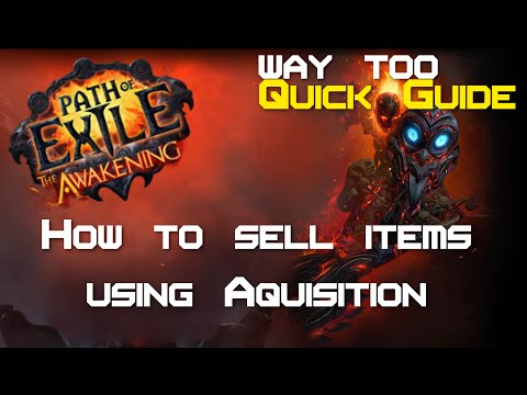 Path of Exile - How to set up a shop in under 1 minute! (Using Acquisition) - Way too quick guide