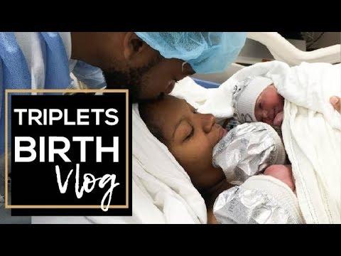Our Triplets Birth Vlog | Cesarean Section