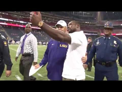 Patrick Peterson Takes a Selfie With Les Miles