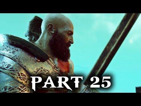 God of War Gameplay Walkthrough Part 25 - ESCAPE FROM HELHEIM  (PS4 2018) (видео)