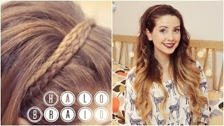 How To: Halo Braid | Zoella - YouTube