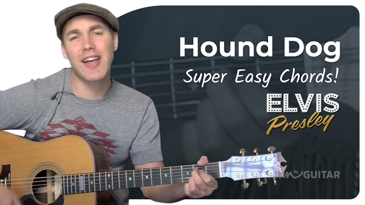 Hound Dog – Elvis (Very Easy Song Beginner Guitar Lesson BS-103) How to play