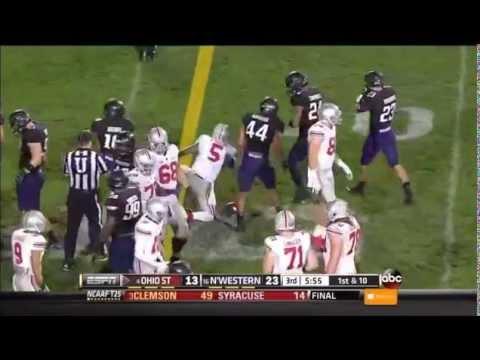 Ibraheim Campbell Game Highlights vs Ohio St. 2013 video.