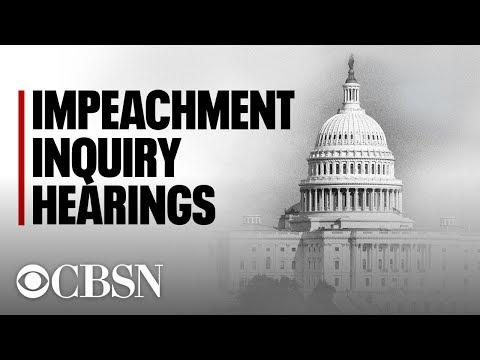 Trump Impeachment hearings live: Public testimony from Volker, Vindman, Williams & Morrison