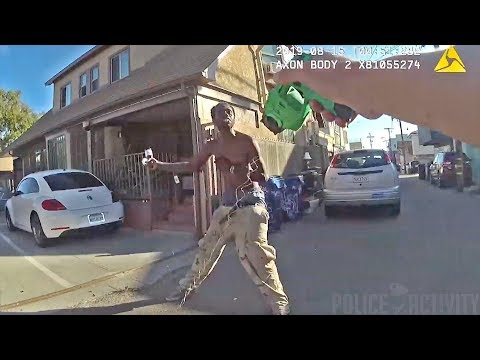Bodycam Shows LAPD Officers Tase & Shoot Suspect Resisting Arrest