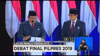 Video Closing Statement Jokowi-Maruf Amin Vs Prabowo-Sandiaga Uno di Debat Final Pilpres 2019 MP3, 3GP, MP4, WEBM, AVI, FLV Juli 2019
