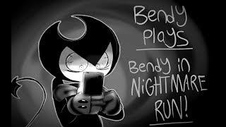 Bendy plays Bendy In Nightmare Run episode 1 NO TENTACLES PLEASE