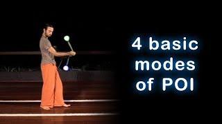 Beginner Poi Spinning Lesson: 4 Basic Modes