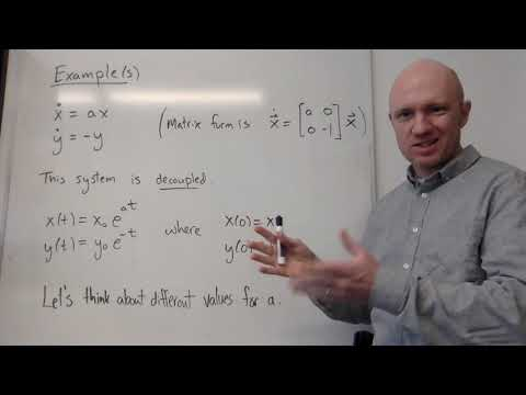Intro to 2d linear systems of ordinary differential equations.