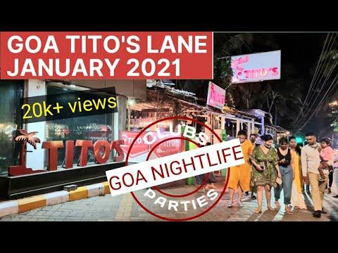 TITO'S LANE JANUARY 2021 | GOA NIGHTLIFE | GOA FAMOUS NIGHTLIFE CLUB | BAGA BEACH GOA