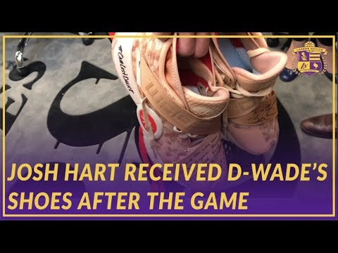 Video: Lakers Post Game: Josh Hart on Shoes He Received From Wade After the Game