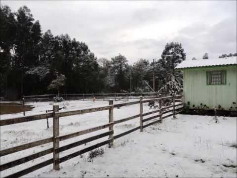 Fotos da neve em Canoinhas SC (23/07/13)