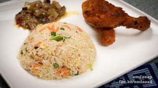 চাইনিজ চিকেন ভেজিটেবল ফ্রাইড রাইস   Bangla Recipe of Chinese Chicken Vegetable Fried Rice