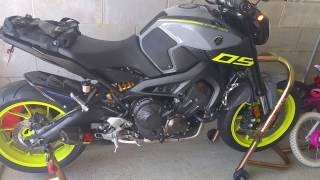 7. 2016 Yamaha FZ-09 Akrapovic Carbon exhaust - Vcyclenut tune first startup