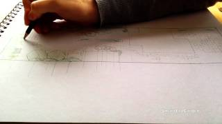 Garden design - Drawing