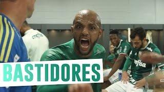 Os bastidores do vestiário do Palmeiras na virada sobre o Peñarol em Montevideu, no Uruguai, pela Conmebol Libertadores...
