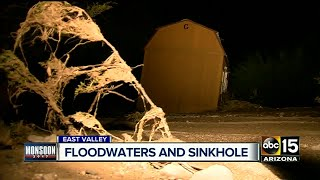 Sinkholes, rushing water and property floating away --- we've seen it all.