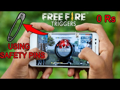 How to make Triggers for Free Fire using Safety pins
