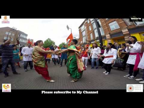 Maharashtra Day  London 2017 Hounslow lezim Dance dhol tasha pathak maharashtra din london hounslow