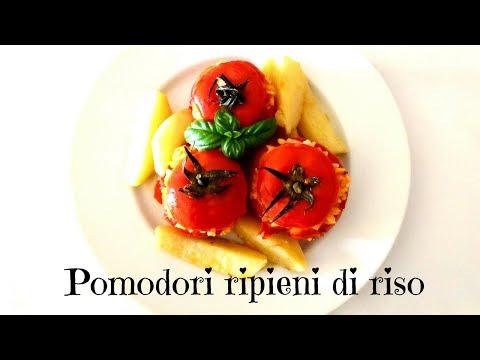 pomodori ripieni di riso in padella - ricetta