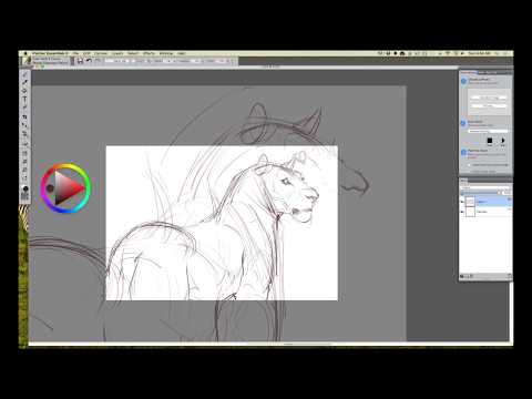 Wacom Intuos Tutorial, Step 1: Concept & Rough Drawing In Corel Painter Essentials With Aaron Blaise
