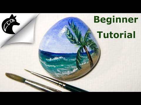 Rock Painting Tutorial For Beginners Beach