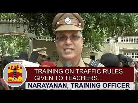Training-on-Traffic-Rules-given-to-Teachers-Narayanan-Training-Officer-Thanthi-TV