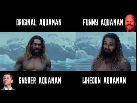 DARK AQUAMAN (SNYDER) vs FUNNY MOMOA (WHEDON) - JUSTICE LEAGUE - LIGA DE LA JUSTICIA - RESHOOTS